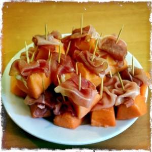 130802 meloen met rauwe ham