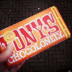 131021 Tony's Chocolonely met karamel en zeezout